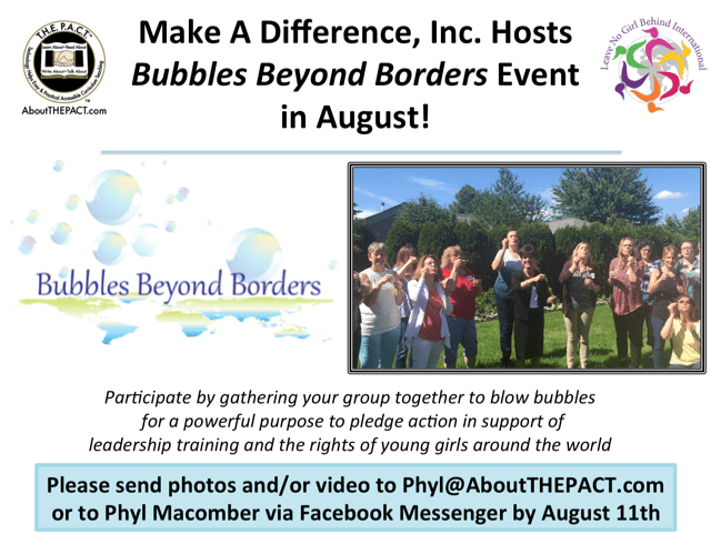 Bubbles Beyond Borders Event