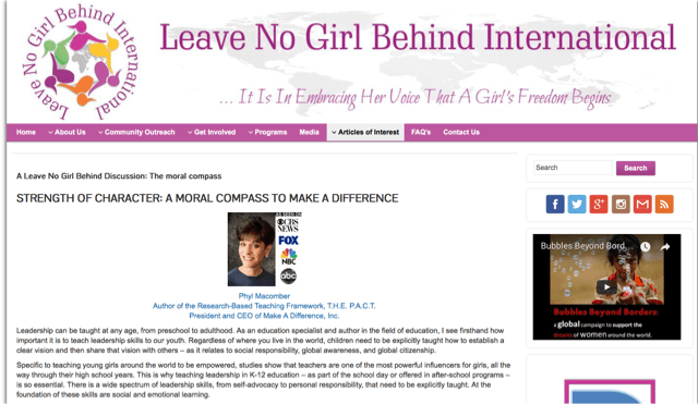 Leave No Girl Behind International